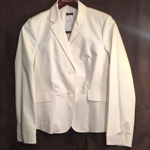 Winter White J. CREW Fctry 12 (True 10) Blazer NWT